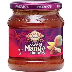Sos indian mango chutney PATAK'S, 340g, 3 bucati