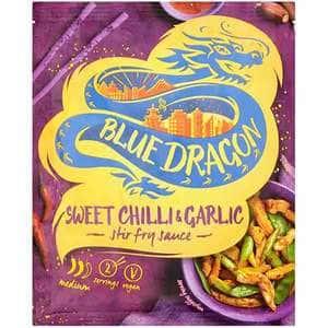 Sos stir fry chilli&garlic BLUE DRAGON, 120g, 3 bucati