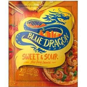 Sos stir fry sweet&sour BLUE DRAGON, 120g, 3 bucati