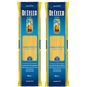 Paste Spaghettini DE CECCO, 1kg, 2 bucati