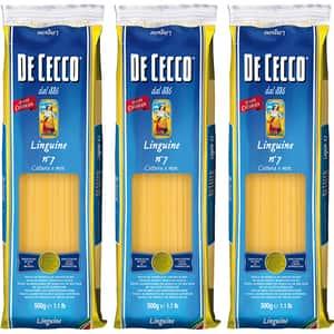 Paste Linguine DE CECCO, 500g, 3 bucati
