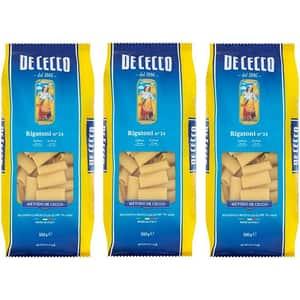 Paste Rigatoni DE CECCO, 500g, 3 bucati