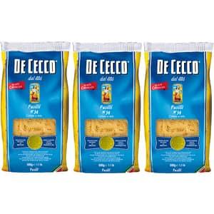 Paste Fusilli DE CECCO, 500g, 3 bucati
