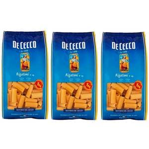 Paste Rigatoni DE CECCO, 1kg, 3 bucati