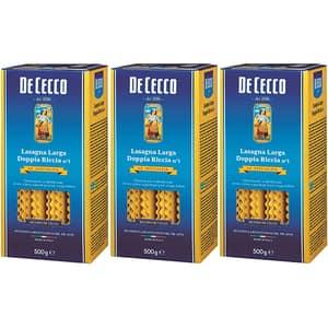 Paste Lasagna Larga Dop Riccia DE CECCO, 500g, 3 bucati