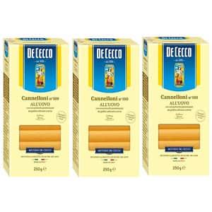 Paste cu ou Cannelloni DE CECCO, 250g, 3 bucati