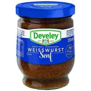 Mustar bavarez dulce DEVELEY Weiswurth Original, 250ml, 2 bucati