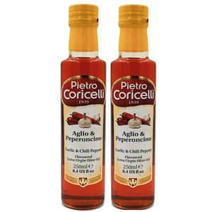 Ulei masline extra virgin cu usturoi & chili P.CORICELLI, 250ml, 2 bucati