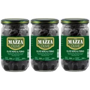 Masline negre fara samburi MAZZA, 314ml, 3 bucati