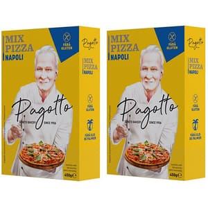 Mix Pizza Napoli fara gluten PAGOTTO, 450g, 2 bucati