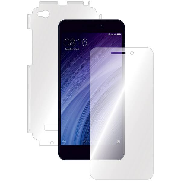 Folie protectie pentru Xiaomi Redmi 4A, SMART PROTECTION, fullbody, polimer, transparent