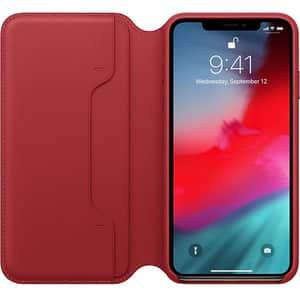 Husa Leather Folio APPLE pentru iPhone Xs Max, MRX32ZM/A, (Product) Red