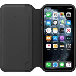Husa Leather Folio APPLE pentru iPhone 11 Pro, MX062ZM/A, Black