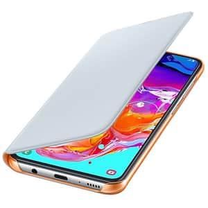 Husa Flip Walet pentru SAMSUNG Galaxy A70 EF-WA705PWEGWW, alb