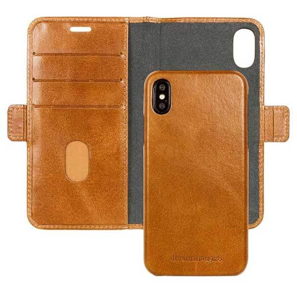 Husa Flip Cover pentru Apple iPhone Xs Max, DBRAMANTE1928 Bernstorff, 142236, maro inchis
