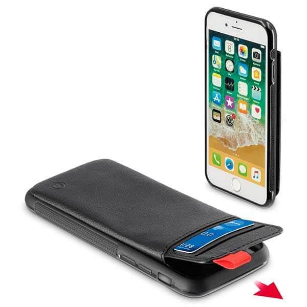 Carcasa pentru Apple iPhone 6 / 6S / 7 / 8, HAMA Red Sensation No. 1, 186153, negru-rosu