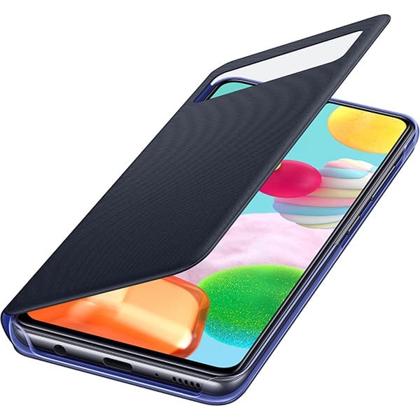 Husa S-View Wallet pentru SAMSUNG Galaxy A41 EF-EA415PBEGEU, negru