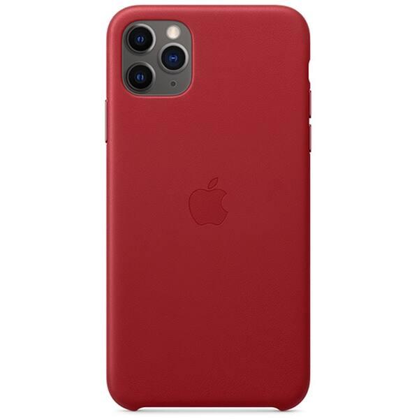 Carcasa APPLE pentru iPhone 11 Pro Max, MX0F2ZM/A, piele, Product Red