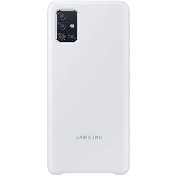 Carcasa pentru SAMSUNG Galaxy A51, EF-PA515TWEGEU, silicon, alb