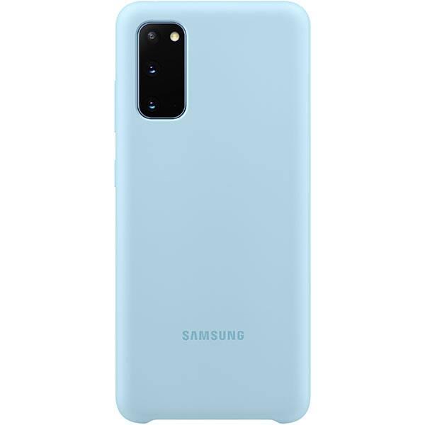 Carcasa pentru SAMSUNG Galaxy S20, EF-PG980TLEGEU, silicon, albastru deschis