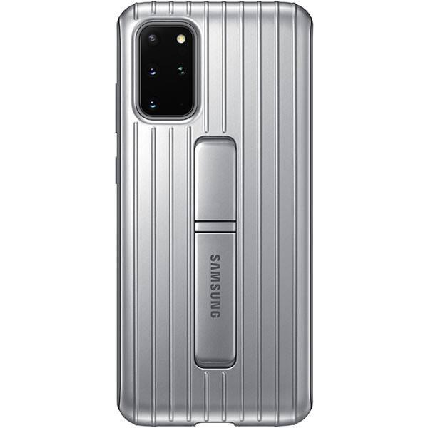 Husa Protective Standing pentru SAMSUNG Galaxy S20 Plus, EF-RG985CSEGEU, argintiu