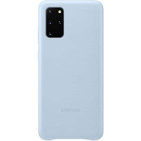 Carcasa pentru SAMSUNG Galaxy S20 Plus, EF-VG985LLEGEU, piele naturala, albastru