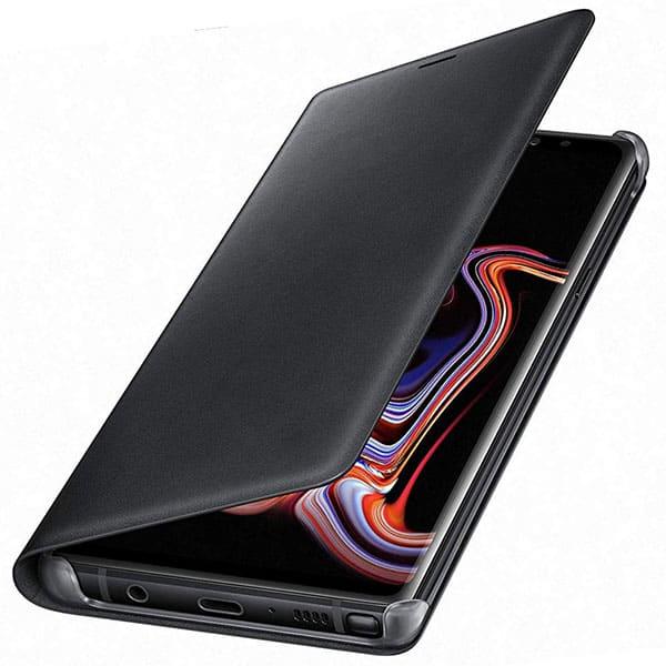 Husa Flip Walet pentru SAMSUNG Galaxy Note 9, EF-WN960LBEGWW, piele naturala, Black
