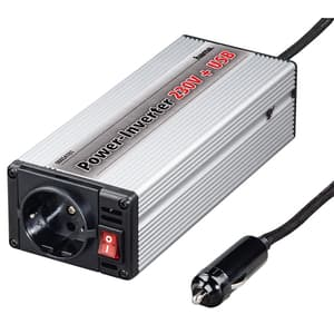 Invertor auto HAMA KFZ-DC, 230V, argintiu