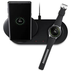 Incarcator wireless SAMSUNG Duo EP-N6100TBEGWW, universal, QI, Type C, negru