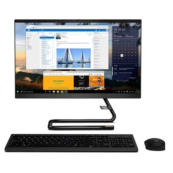 "Sistem PC All in One LENOVO IdeaCentre A340-24ICK, Intel Core i3-9100T pana la 3.7GHz, 23.8"" Full HD, 8GB, SSD 256GB, Intel UHD Graphics 630, Free DOS, negru"