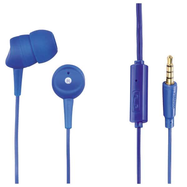 Casti HAMA Basic 137437, Cu Fir, In-ear, Microfon, albastru