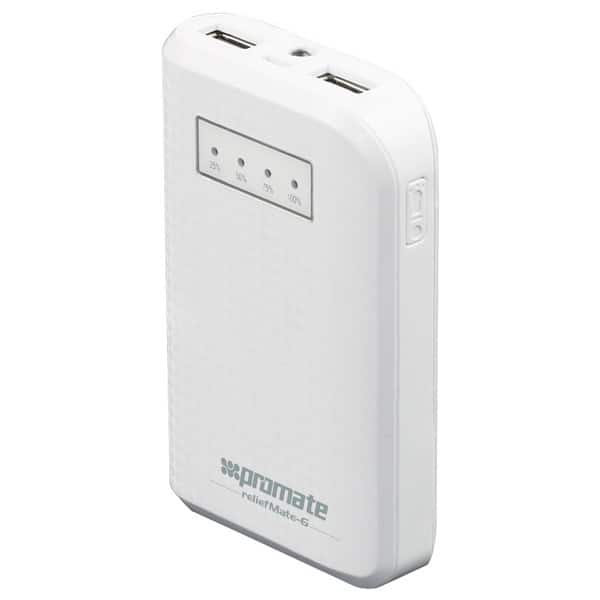 Baterie externa PROMATE reliefMate-6, 6000mAh, 1xUSB, White