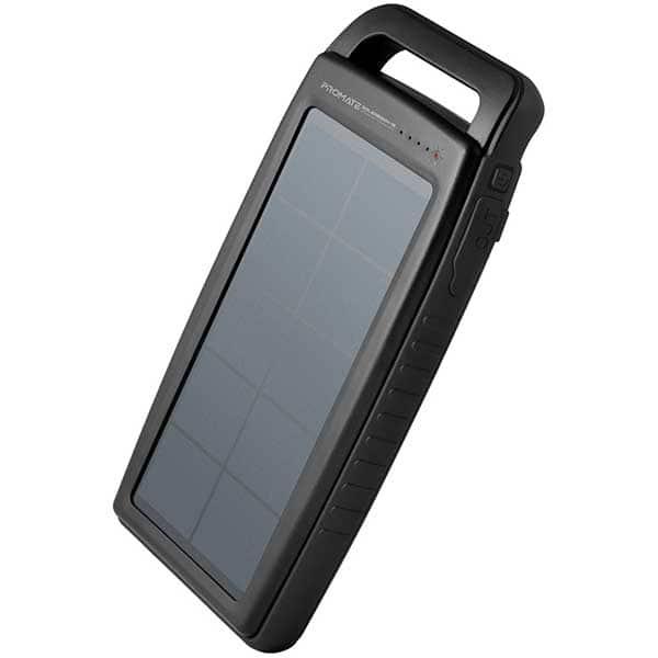 Baterie externa solara PROMATE SolarBank15, 15000mAh, 2XUSB, negru