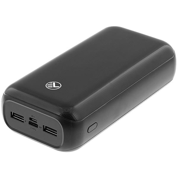 Baterie externa TELLUR TLL158221, 30000mAH, 1xType C, 2xUSB, negru