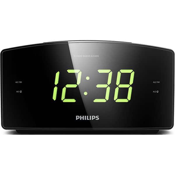 Radio cu ceas PHILIPS AJ3400/12, FM, negru