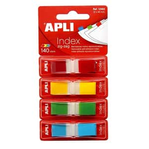 Index APLI Pop-up, 12 x 45 mm, hartie, plastic, 4 x 35 file, diverse culori
