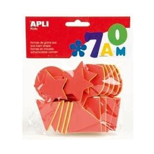 Set forme geometrice APLI, 25 bucati, diverse culori
