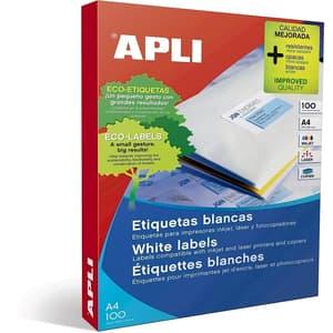 Etichete autoadezive APLI, A4, 646 x 338 mm, 2400 bucati, 100 coli/top