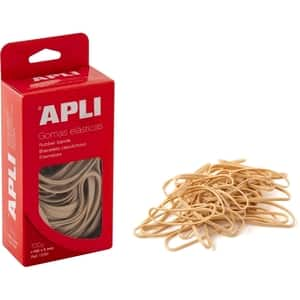 Elastice pentru bani APLI, 80 mm, latime 5 mm, 100 g/punga