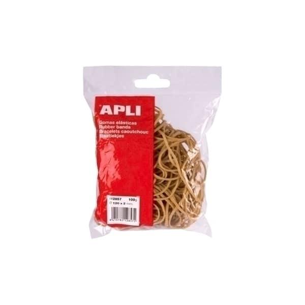 Elastice pentru bani APLI, 80 mm, 100 g/punga