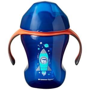 Cana TOMMEE TIPPEE Easy drink TT0076, 6 luni+, 230 ml, albastru-portocaliu
