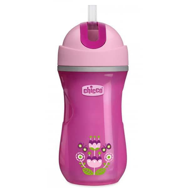 Cana sport cu pai CHICCO, 14 luni +, 266 ml, roz