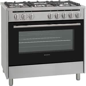Aragaz VORTEX VAG9060SS01V, 5 arzatoare, Gaz + Electric, L 90 cm, Grill, inox