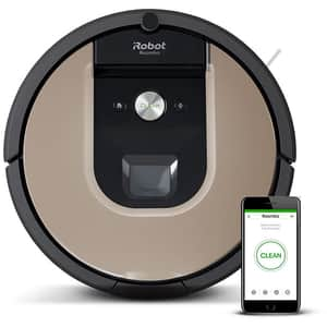 Aspirator robot IROBOT Roomba 976, autonomie max 75 min, Wi-Fi, Navigatie iAdapt 2.0, Dirt Detect, negru-maro
