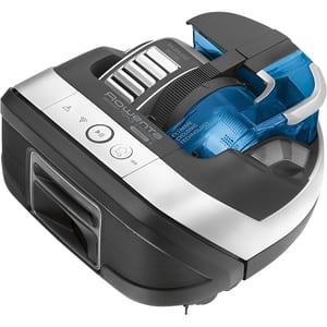 Aspirator robot ROWENTA Smart Force Cyclonic RR8021WH, 0.3l, autonomie max 60 min, Wi-Fi, Robart, negru-albastru