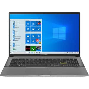 "Laptop ASUS VivoBook S15 S533EA-BQ022T, Intel Core i7-1165G7 pana la 4.7GHz, 15.6"" Full HD, 8GB, SSD 512GB, Intel Iris Xe Graphics, Windows 10 Home, negru"