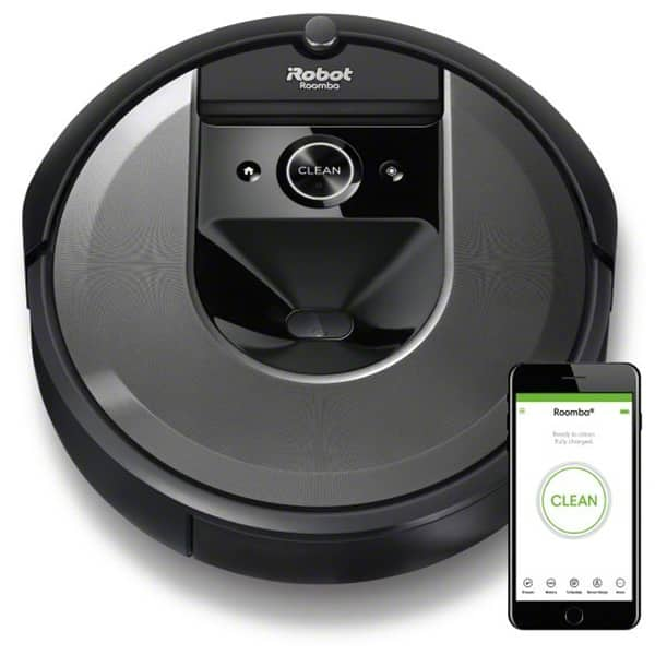 Aspirator robot IROBOT Roomba i7, Navigatie iAdapt, 3 trepte AeroForce, argintiu-negru