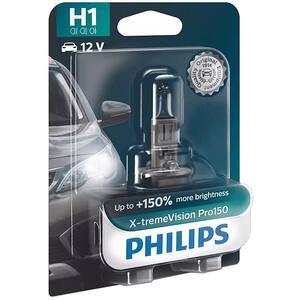 Bec auto PHILIPS Xtreme Vision+ , 150%, H1, 3450K, 55W, 1 buc