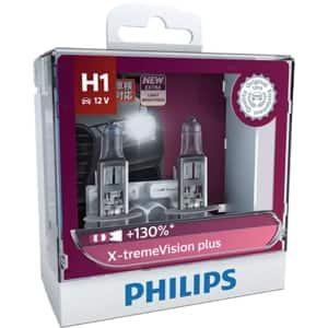 Set becuri auto PHILIPS Xtreme Vision+, 130%, H1, 3450K, 55W, 2 buc