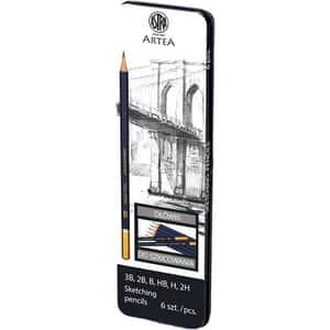 Creioane pentru schitare ASTRA, diverse duritati, 6 bucati